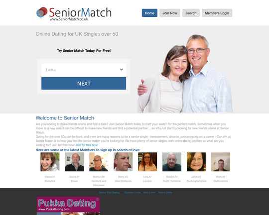 Senior Match Dating Logo